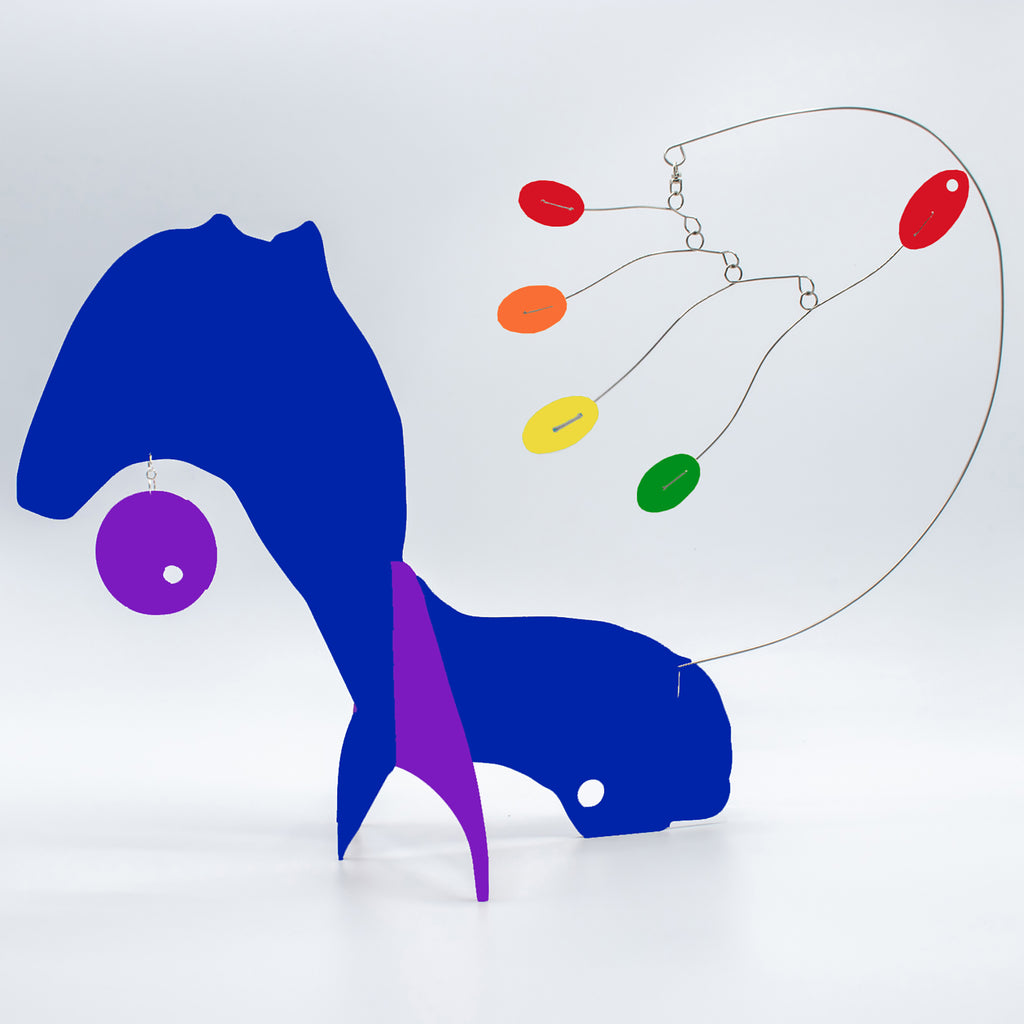 Fox Cute Animal LGBTQ+ Rainbow Pride Modern Art Sculptures - kinetic table top mobiles by AtomicMobiles.com
