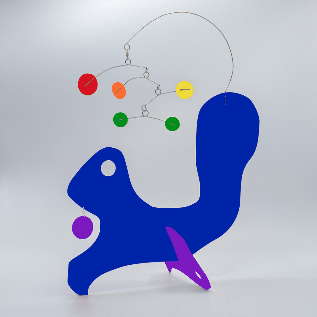 Cute Animal Squirrel LGBTQ+ Rainbow Pride Modern Art Sculptures - kinetic table top mobiles by AtomicMobiles.com