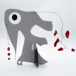 Quatorze: L'Elephant - The Elephant - kinetic modern art sculpture stabile by AtomicMobiles.com
