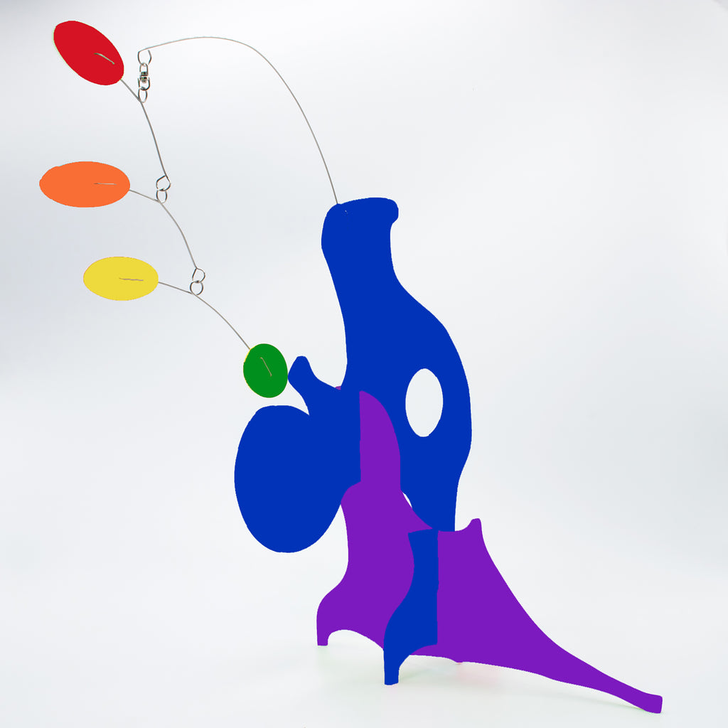 Abstract baby art - LGBTQ+ Rainbow Pride Modern Art Sculptures - kinetic table top mobiles by AtomicMobiles.com