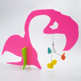 Quatorze: Le Flament - The Flamingo - abstract kinetic art stabile animal sculpture by AtomicMobiles.com