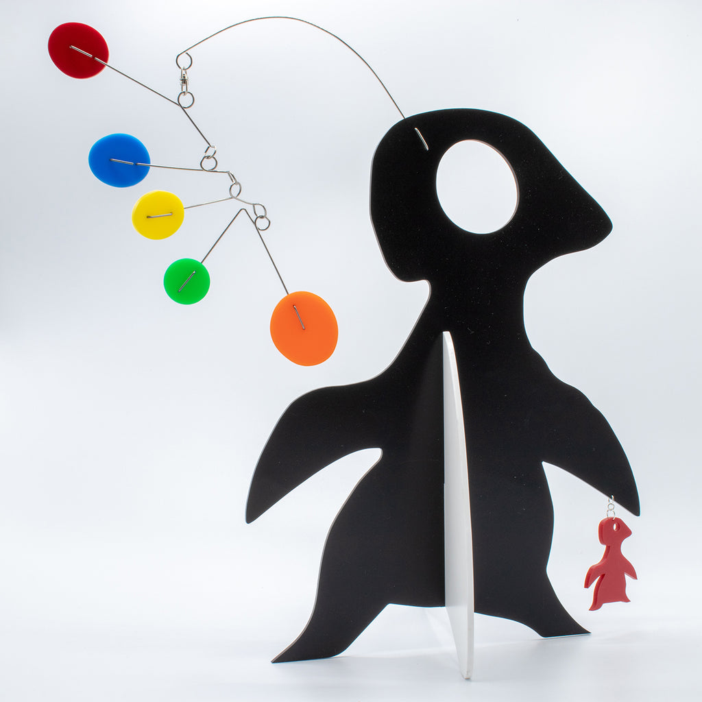 Quatorze: Le Pingouin - The Penguin - abstract kinetic animal art sculpture stabile by AtomicMobiles.com