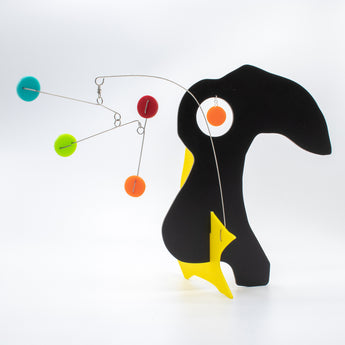 Quatorze: L'Oiseau - The Bird - kinetic animal stabile sculpture by AtomicMobiles.com
