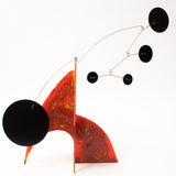 Stunning Red Hand Painted Modern Art Stabile Sculpture by AtomicMobiles.com