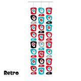 Large Retro-A-GoGo Atomic Room Divider Screen Kit in Red, Aqua, Black, and Gray by AtomicMobiles.com
