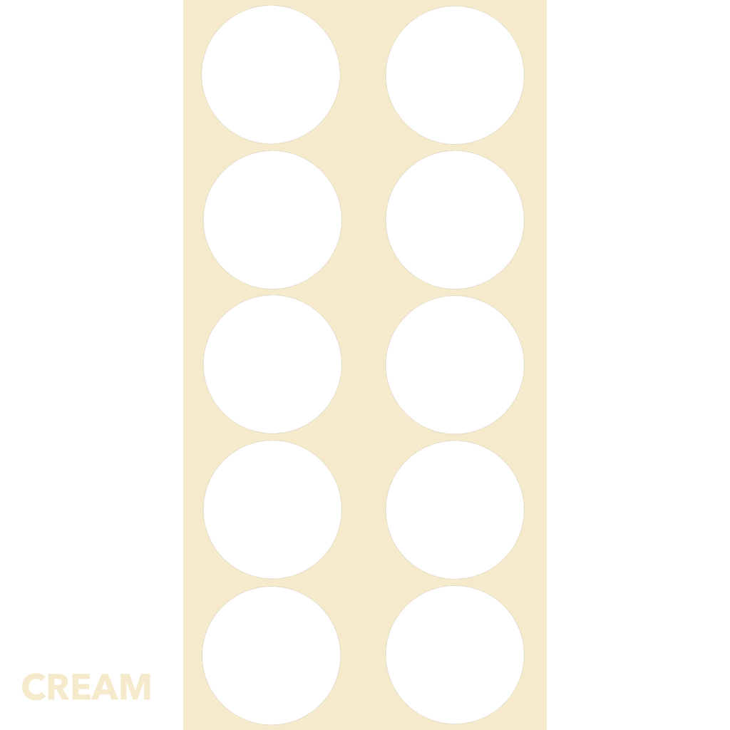 Cream Classic DOTS Wall Tile by AtomicMobiles.com