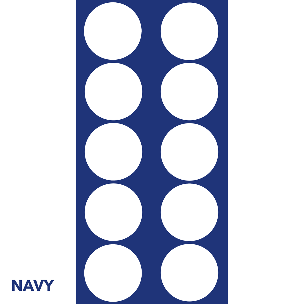 Navy Classic DOTS Wall Tile by AtomicMobiles.com