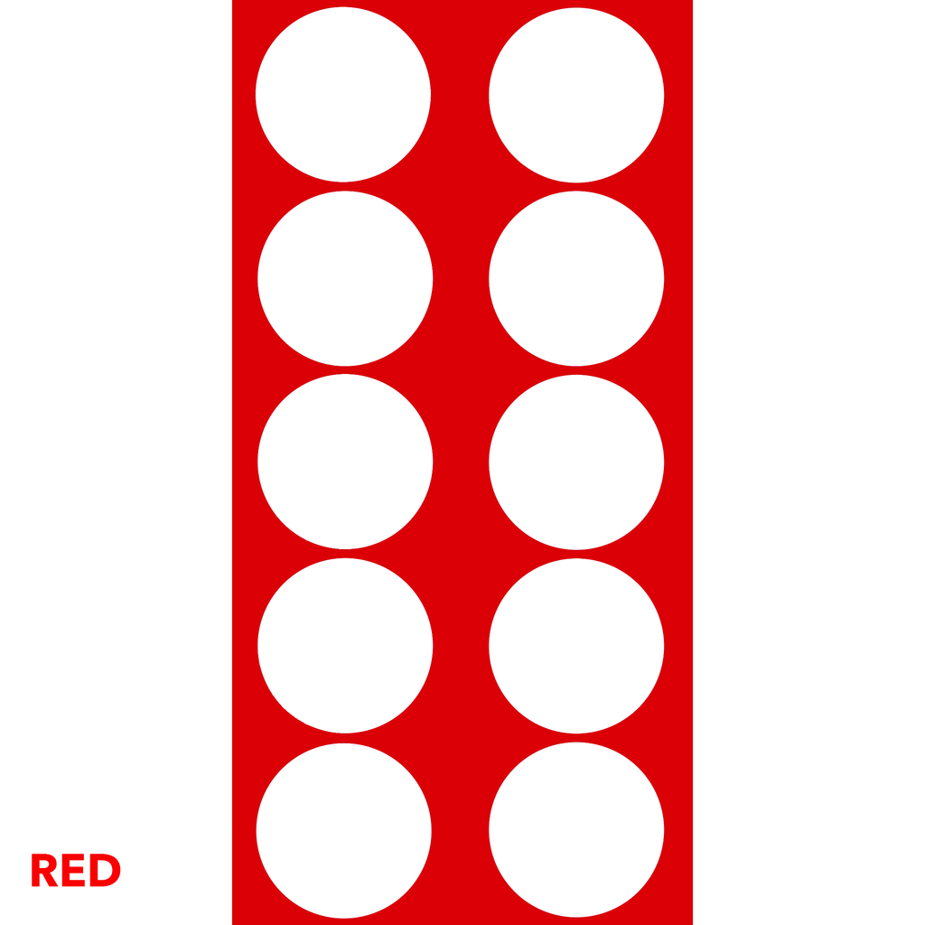 Red Classic DOTS Wall Tile by AtomicMobiles.com
