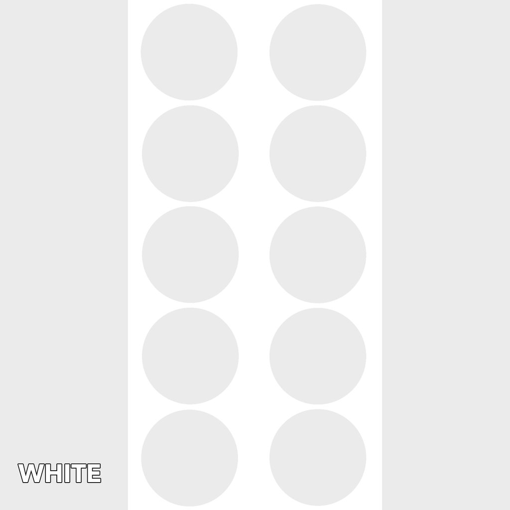 White Classic DOTS Wall Tile by AtomicMobiles.com
