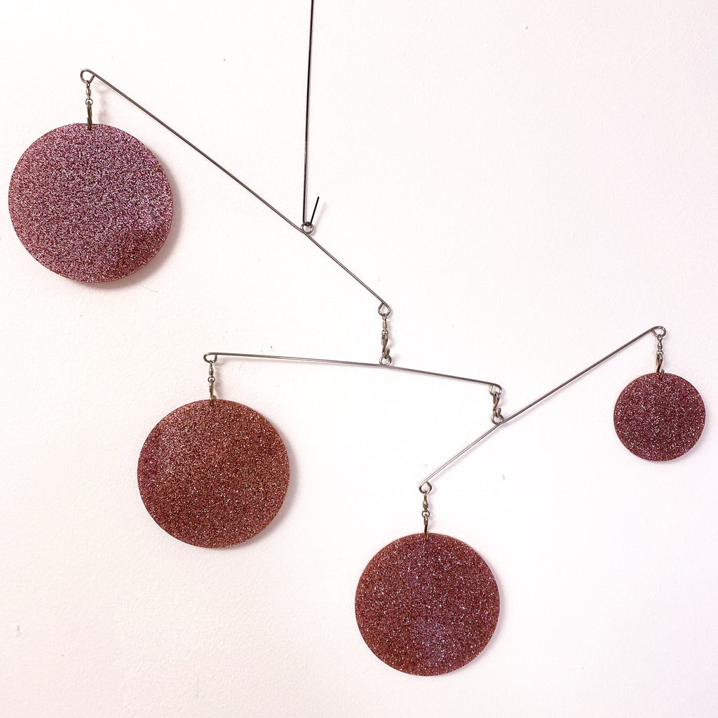 Gorgeous Rose Gold Atomic Mobile DIY Kit - kinetic hanging art by AtomicMobiles.com