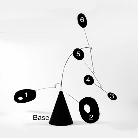 Custom Modern Sculpture The Strobile Art Stabile Inspired by Calder
