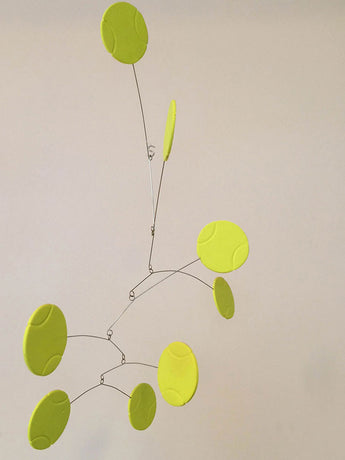 Tennis Ball Mobile - Kinetic Hanging Mobile for Tennis Fan