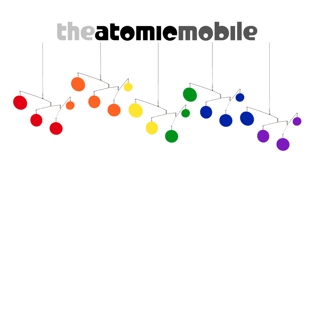 The Atomic Mobile in Exclusive Rainbow Pride LGBTQ+ Colors by AtomicMobiles.com - Love is Love