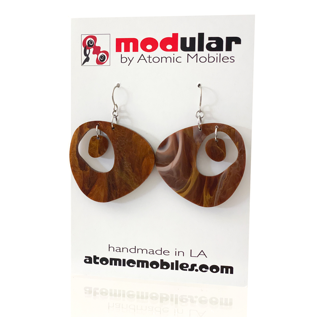 SALE! Tortoise Shell Retro Acrylic Earrings
