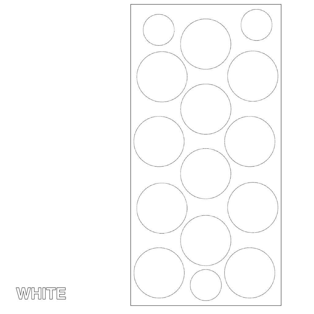 White Polka Dots Retro Wall Tile by AtomicMobiles.com