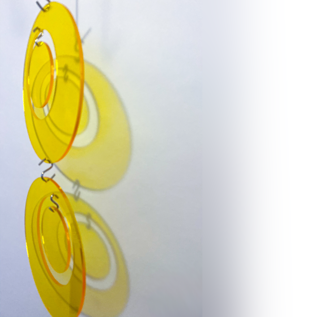 Yellow Groovy Atomic Kits Part for Room Dividers, Wall Art, and Mobiles by AtomicMobiles.com