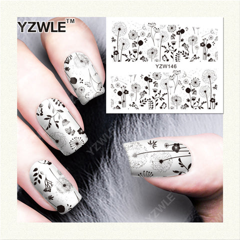 YZWLE 1 Sheet DIY Designer Water Transfer Nails Art Sticker / Nail Water Decals / Nail Stickers Accessories (YZW-146)