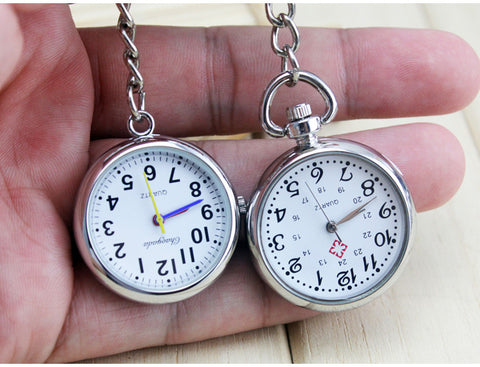 New Arrival Nurse Pocket Watch Stainless Steel Arabic Numerals Quartz Brooch Doctor Nurse Pocket Watch