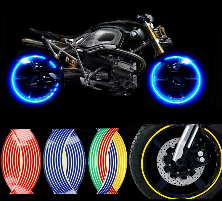 Buy Two Get One ! Motorcycle Styling Wheel Hub Rim Stripe Reflective