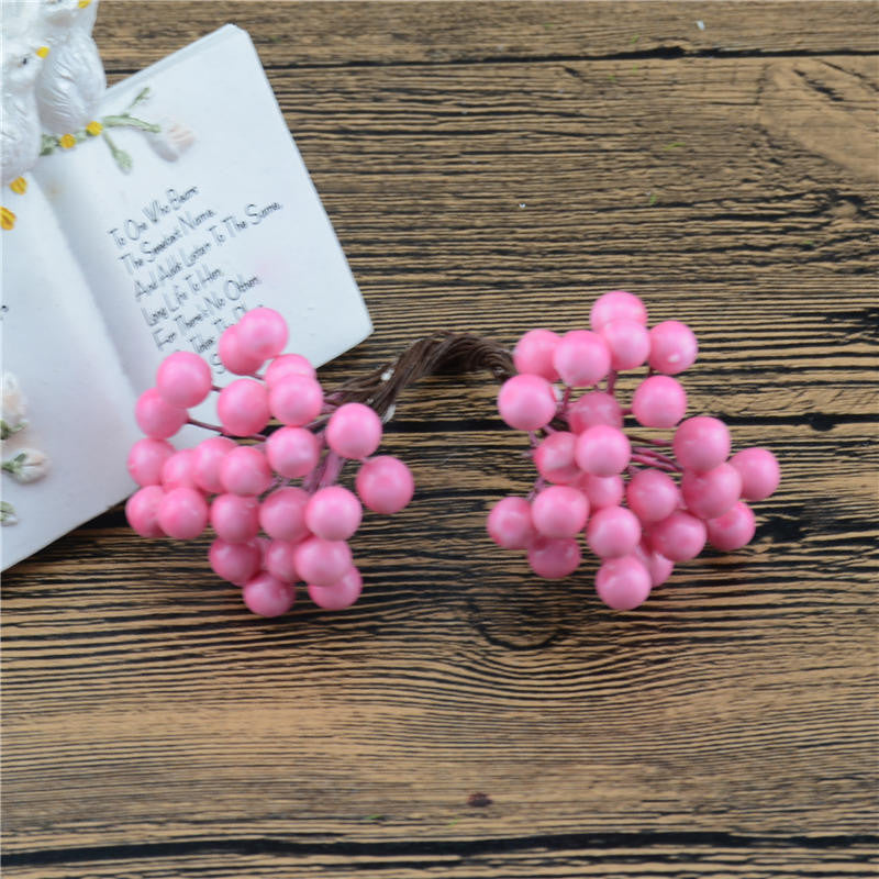 Cheap 25Pcs 50heads 0.6cm Berry Bacca Artificial Flower For Wedding