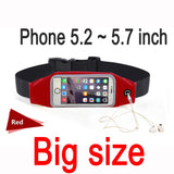 Gym Waist Bag Waterproof Sport Accessories Universal Phone Case Pouch For iPhone 6S Plus Samsung Galaxy J5 S7 S6 S5 A3 A5
