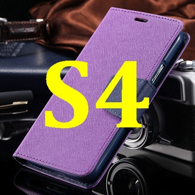 S4 S5 Luxury PU Leather Case for Samsung Galaxy S5 SV I9600 Wallet
