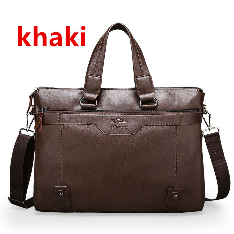 Men Casual Briefcase Business Shoulder Leather Messenger Bags Computer