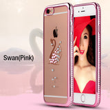 Bling Rhinestone Silicone Case For iPhone 6 6S Coque Luxury Soft TPU Back Cover For iPhone 6 Plus / 6S Plus Phone Cases 6 Styles