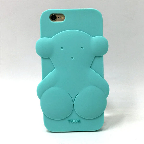 "Cute Bear Silicon Phone Cases Fundas For Apple iPhone 5 5s 5C SE 6 4.7"" 6 Plus 5.5"" 7 7 Plus For Huawei P8 lite P8 lite Coque P2"