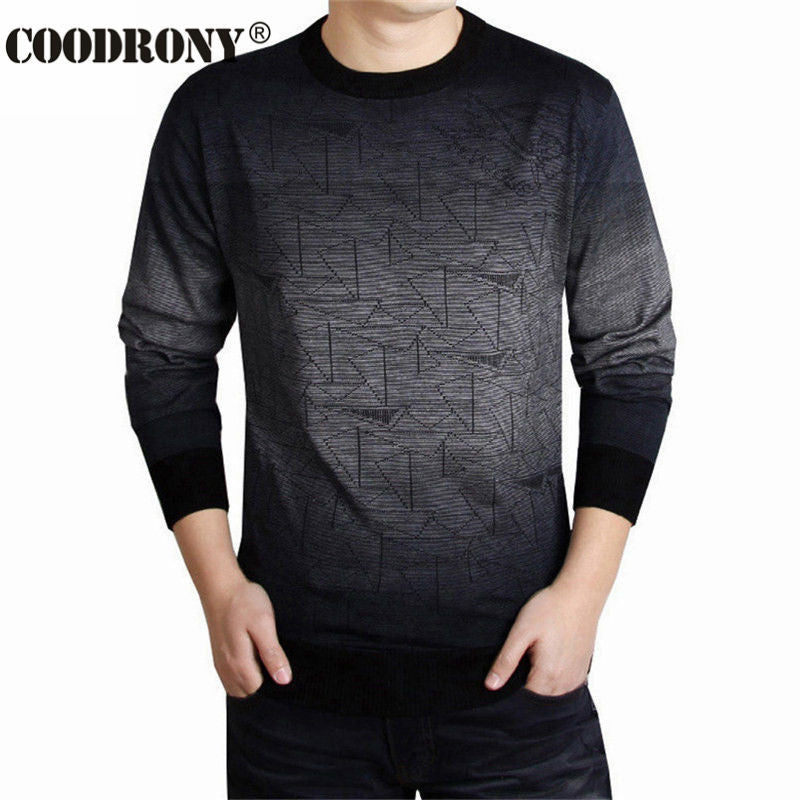 Cashmere Sweater Men Brand Clothing Mens Sweaters Fashion Print Hang