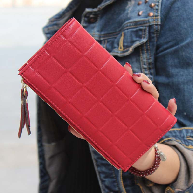 New Fashion Stereoscopic Square Women Wallets Embossed Wallet Female