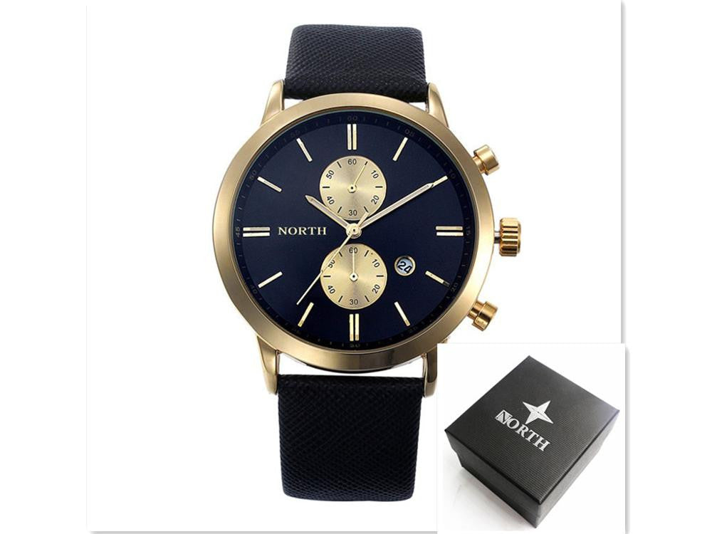 Mens Watches Top Brand Luxury Quartz Watch Casual Leather Sports Wrist