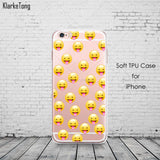 Fashion Lovely Funny Emoji Case For iphone 6 6s 5 5s se 7 7Plus Silicone Cell Phone Cases Cover