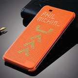 Slim Dot Bag Smart Auto Sleep Wake View Shell Soft Silicone Original Leather Case Back Flip Cover Shockproof For HTC Desire 820
