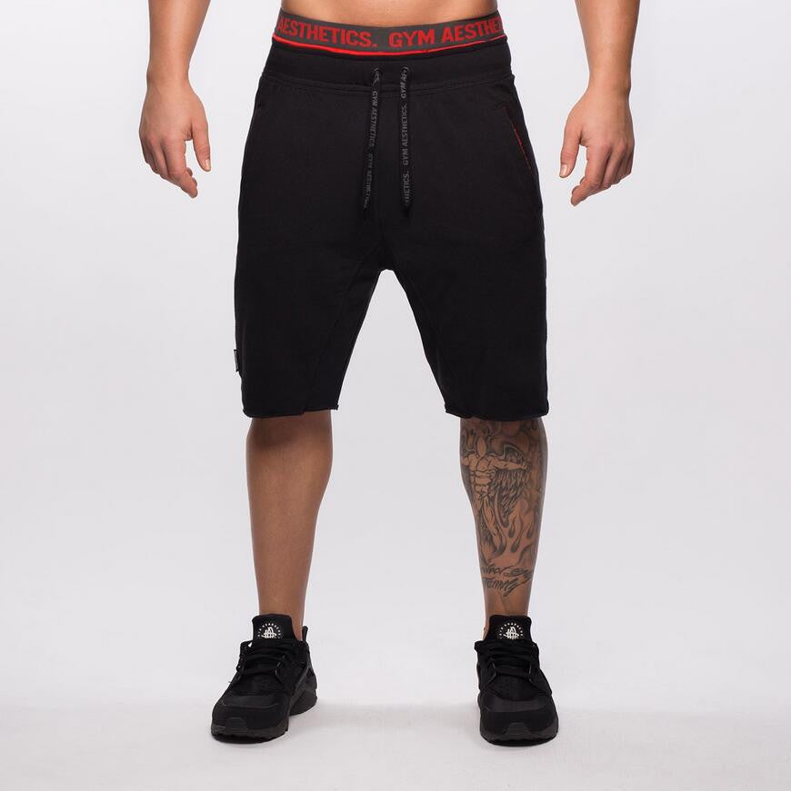 Summer Quality Black Slim Cotton Men Golds Brand Shorts Mens