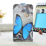 Luxury PU Leather Case For Samsung Galaxy J3 J320 J320F SM-J320F Case Flip Cover Cartoon Painting Phone Protective Case