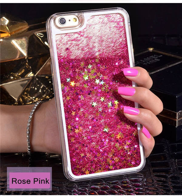 Dynamic Liquid Glitter Sand Quicksand Star Cases For iphone 4 4S 5