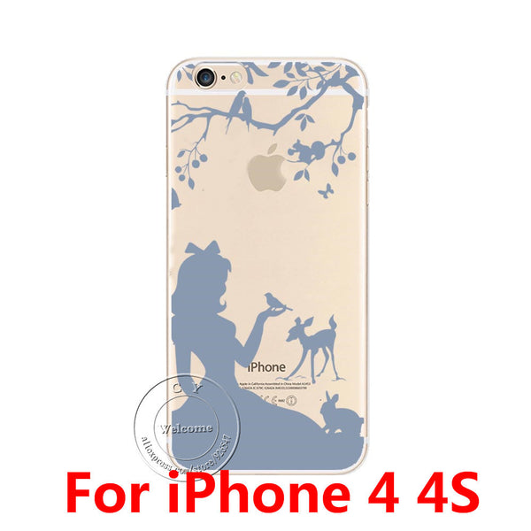 NEW Cute Cat Fashion Design Ultra Thin Soft TPU Gel Silicon Transparent Case Cover For Apple iPhone 4 4S 5 5S SE