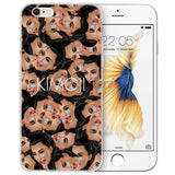 Funny Head Kim Kardashian Kanye Kimoji Design Soft Silicone Case For Apple iPhone 7 Plus 6 6S Plus 5 5S SE Back Cover Phone Case