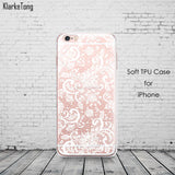 Colorful Floral Paisley Flower Mandala Henna Clear Case For iphone 6 6s 5 5s se 7 7plus Silicone Soft Cover