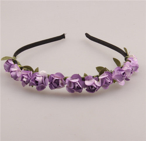 Cute Rose Flower Crown Festival Headband Headwear Wedding Garland