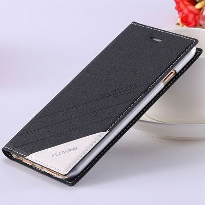 Original Luxury Ultrathin Flip Leather Phone Case For Apple iPhone 5 5S Wallet Holster Back Cover Bag For iPhone 7 5S 6 6S Plus