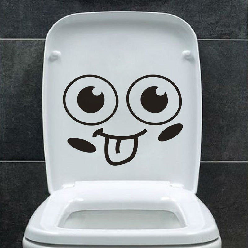 big mouth toilet stickers wall decorations 342. diy vinyl adesivos