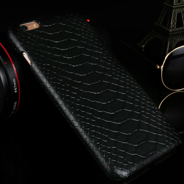 New Arrivals For iPhone 5 5S SE 6 6S 6Plus 6sPlus 7 7Plus Cool Snake Skin Flip PU Leather Shell Phone Cases Protect Back Cover