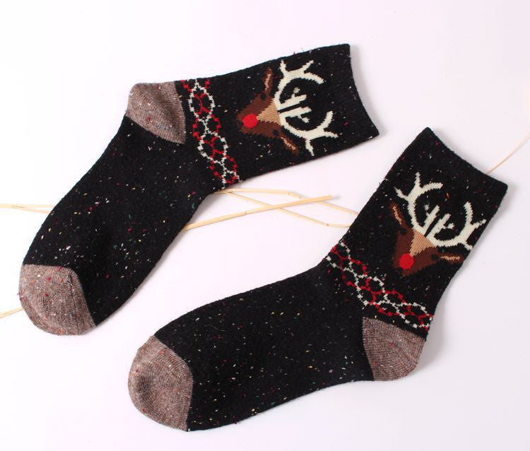 new thick wool cotton women crew socks autumn winter of Harajuku