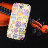 "S4 Owl Tower Flag TPU Silicone Soft Case For Samsung Galaxy S4 SIV I9500 5.0"" Back Skin Cover Cell Phone Protect ShockProof Bag"
