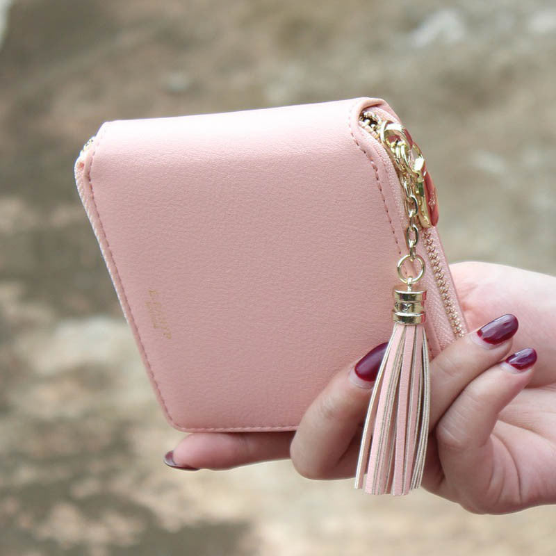 Fashion Women Wallets PU Leather Tassel Female Wallet Ladies