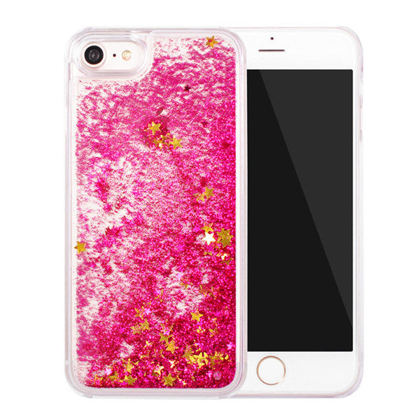 For iPhone 6 Case Glitter Bling Liquid Sand Star Quicksand Clear