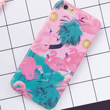 Fashion Soft IMD Colorful Flamingo Case Cover For iPhone 6 Case For iphone 6S 6 Plus Cute Cartoon Animal Ostrich Phone Cases HOT