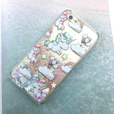 Cute Cartoon Unicorn Case For iPhone 6 6S Dynamic Glitter Stars Dynamic Liquid Cartoon Phone Cases Cover For iphone 6S 6 / Plus